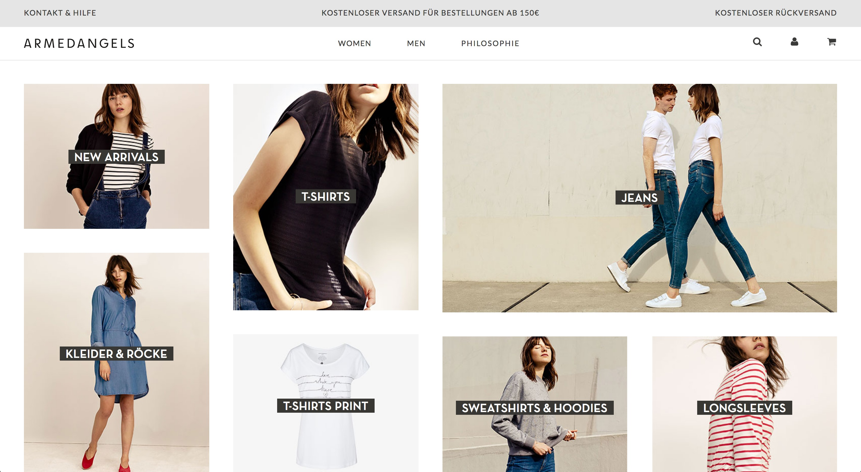 Klar strukturierte Webseite mit Fokus auf zentrale Inhalte