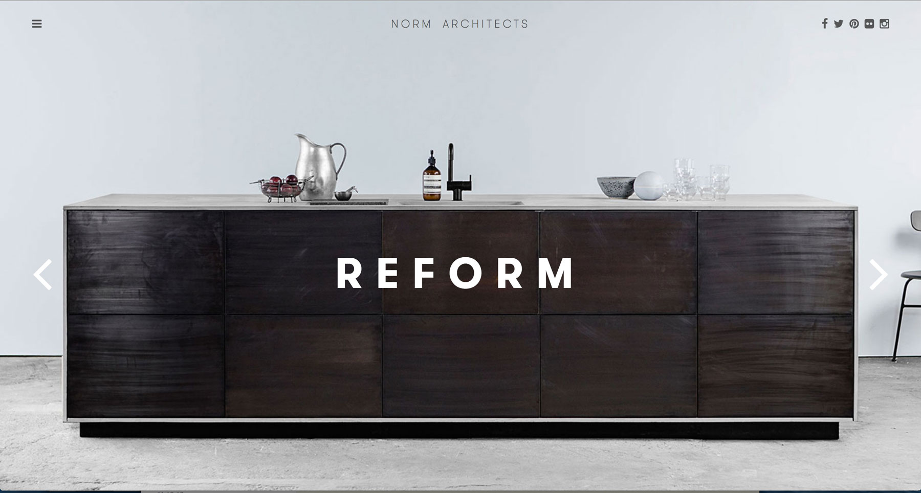 Eine professionelle Webseite mit Flat Design – reduziert und minimalistisch