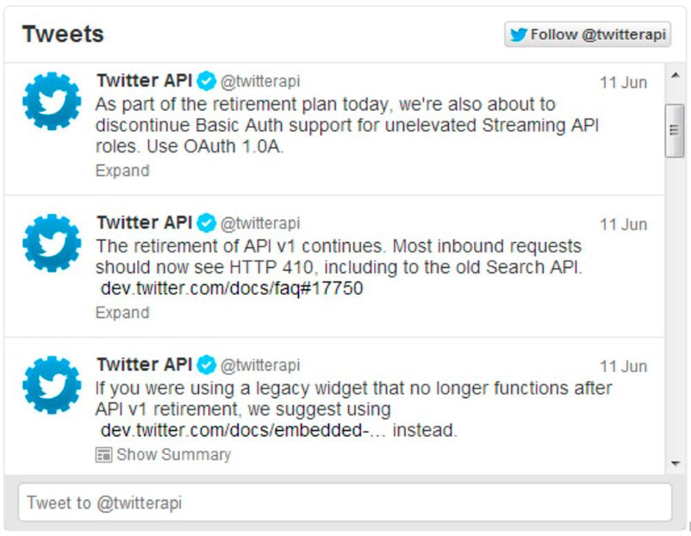 Twitter-Feed für eine professionelle Webseite