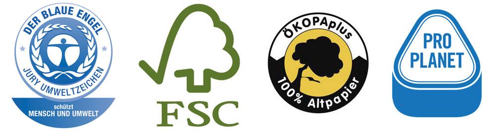 Umweltfreundlich drucken mithilfe von Öko-Siegeln
