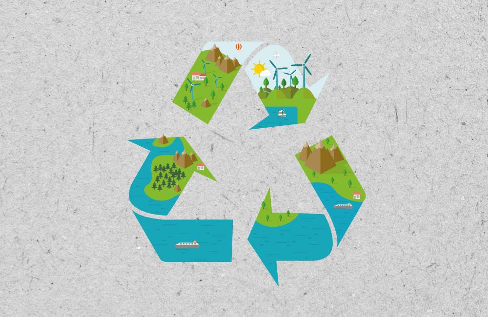 Umweltfreundliches Papier ist Teil des ökologischen Kreislaufes