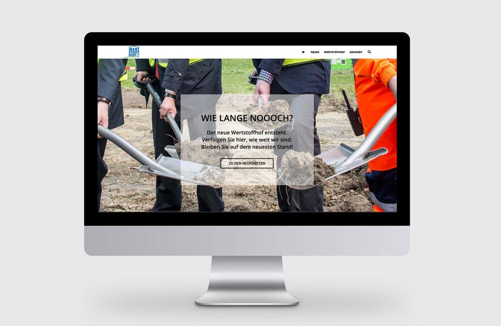 Authentisches Webdesign: Die Webseite vom Wertstoffhof Herne ist genau auf die Kundenbedürfnisse zugeschnitten