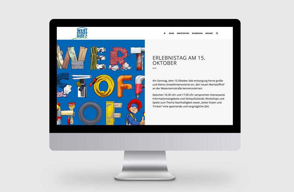 Webseite: Erlebnistag Wertstoffhof Herne