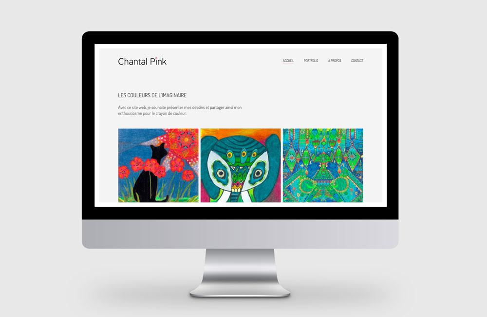 Webseite für die Künstlerin Chantal Pink