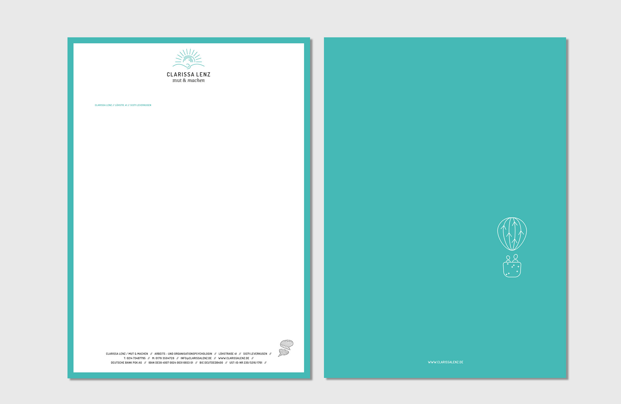 Clarissa Lenz Corporate Design Briefpapier
