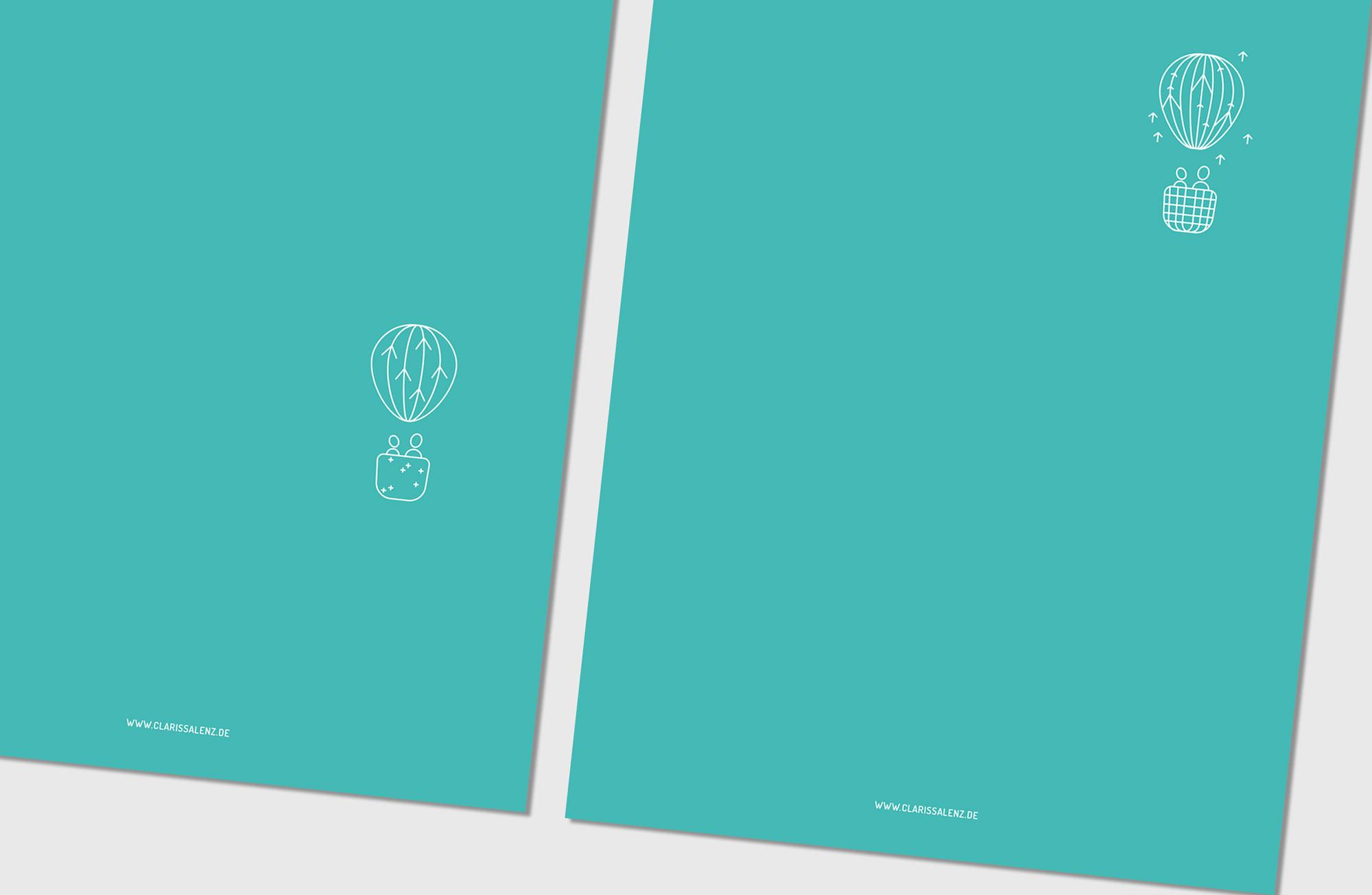 Clarissa Lenz Icons Rückseite Briefpapier – hochfliegender Heissluftballon