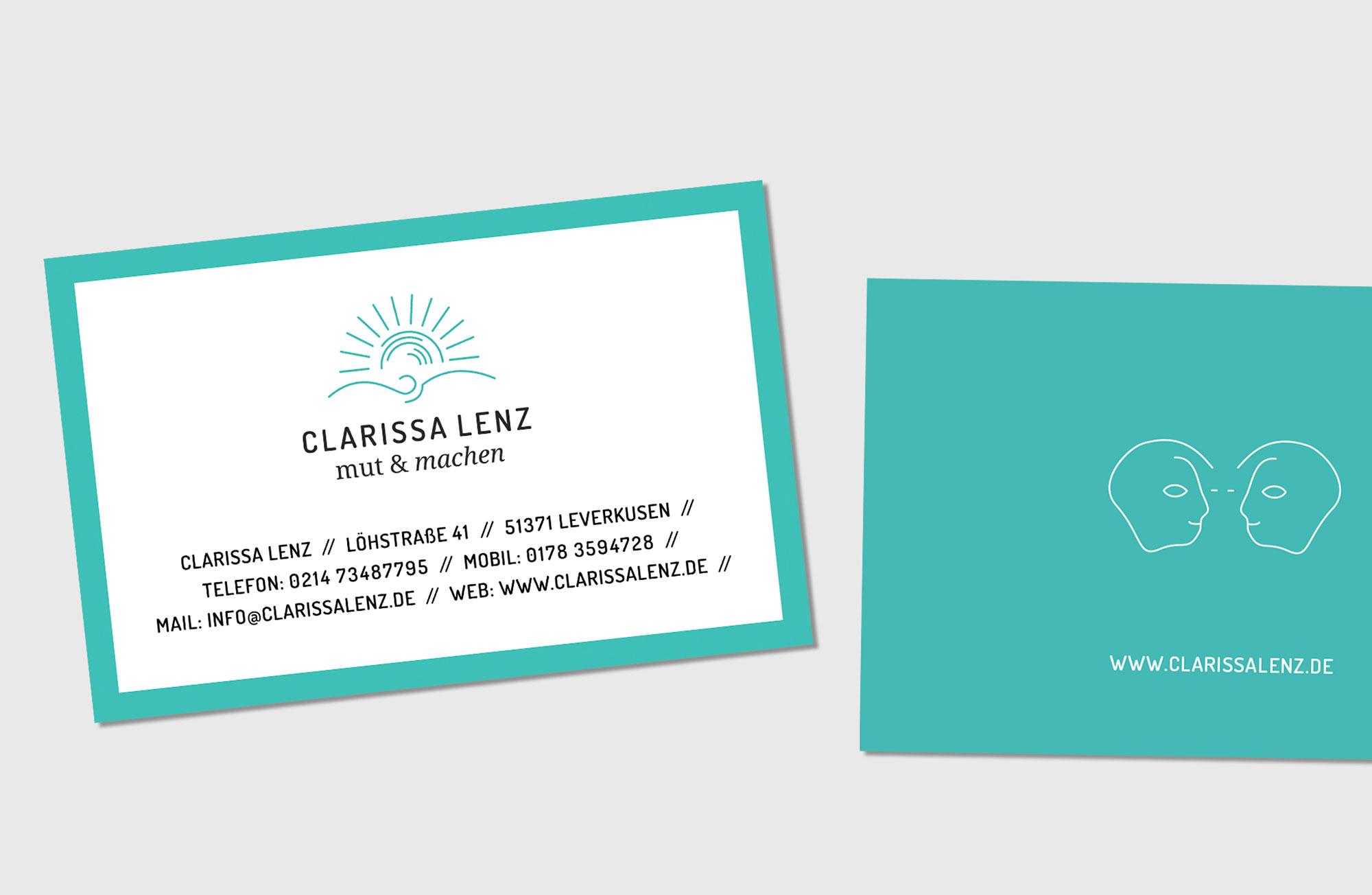 Clarissa Lenz Visitenkarten Detail
