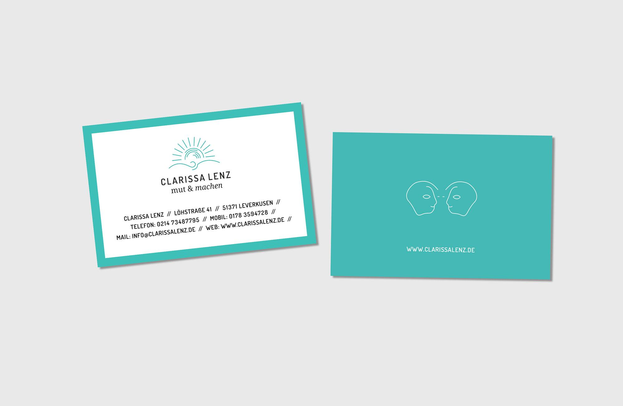 Clarissa Lenz Visitenkarten